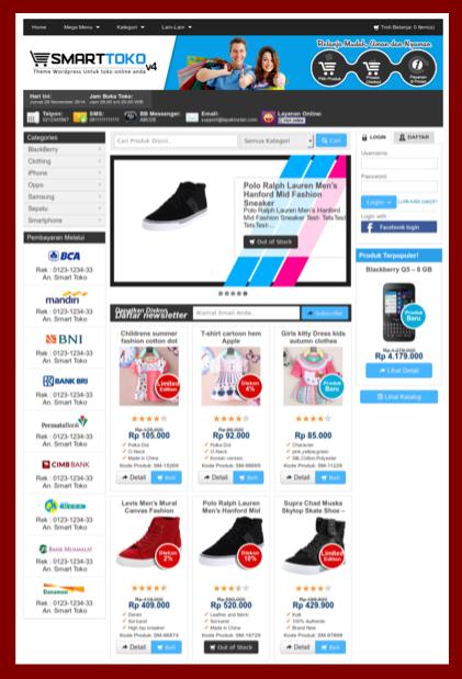 Tema toko online