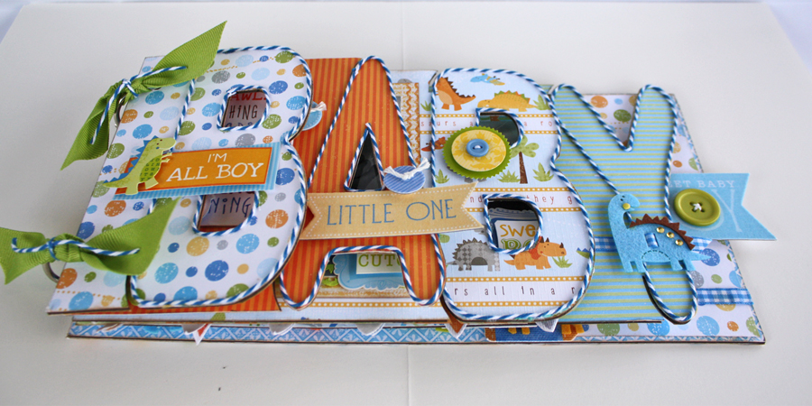 liz qualman designs baby saurus mini album with lyb
