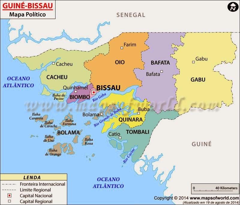 MAPA POLITICO GUINÉ-BISSAU