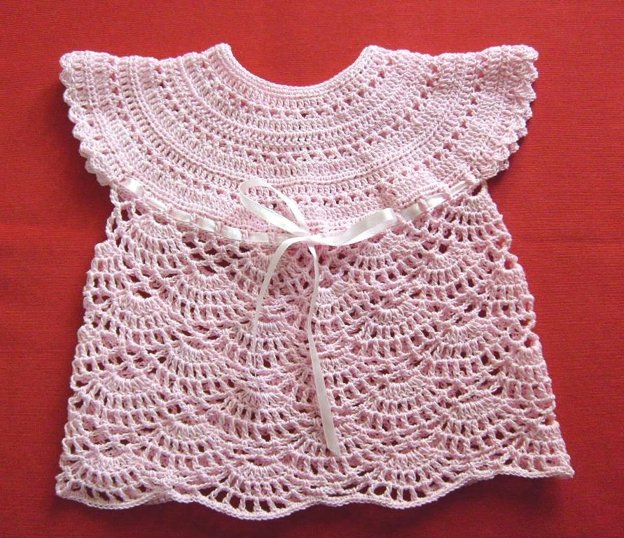 Polera a crochet para bebé de 0 a 3 meses