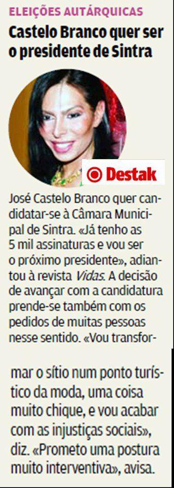 Jose Castelo Branco é candidato a presidente da câmara de Sintra