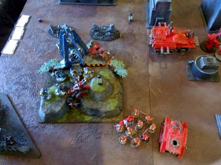 40k SW+IK vs Squat - protect the artillery!