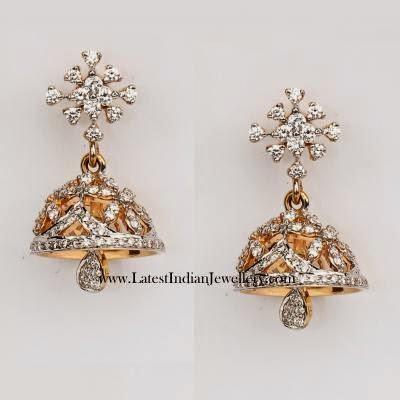 Cute Diamond Jhumka Earrings