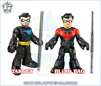 Imaginext dc comics blind bag foil Nightwing Batman Catwoman Red Hood アメコミ バットマン