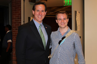 Rick Santorum & Kevin Cryan at John Hopkins