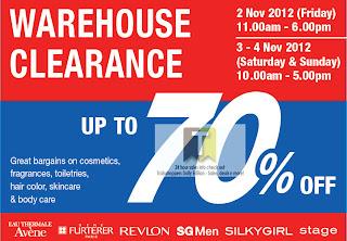 Alliance Cosmetics Warehouse Clearance Sale 2012