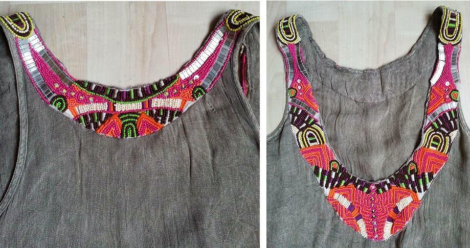 Boncuk İşlemeli Elbise Tunik, Beaded Stitching