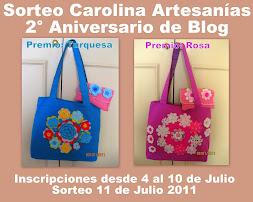 Sorteo 2° Aniversario Carolina Artesanías 11 Julio 2011
