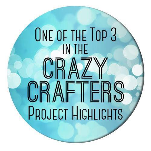 Top 3 Winner badge in the Crazy Crafters Project Hightlights