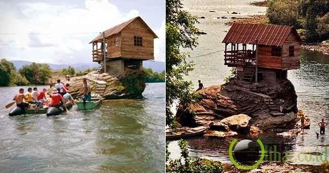 House on the Drina River, Bajina Basta, Serbia