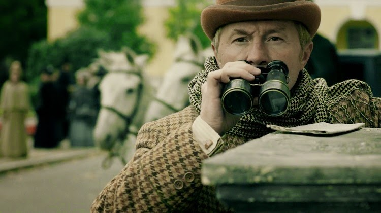 Russian John Watson binoculars Sherlock Holmes 2013 Episode 4 The Mistress of Lord Maulbrey