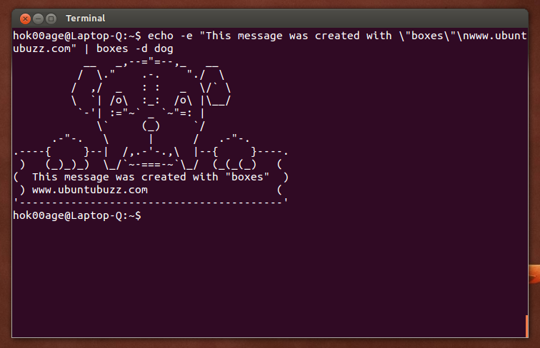 One Line Ascii Art Dog : Boxes draw text mode ascii art easily