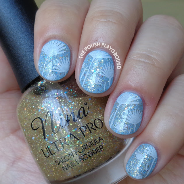 Dandelion Artwork Inspired Stamping Nail Art