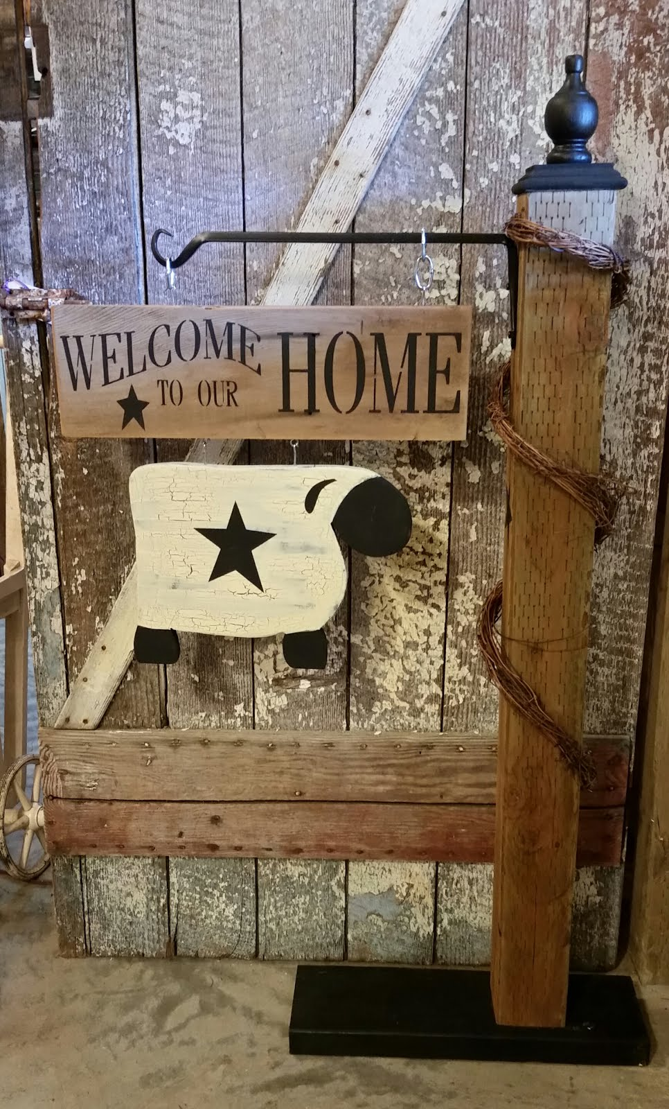 GIRLS NIGHT OUT COUNTRY PORCH POST WELCOME SIGN