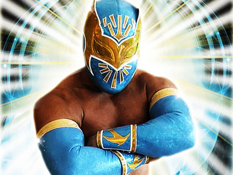 sin cara wwe without mask. wwe superstar sin cara without