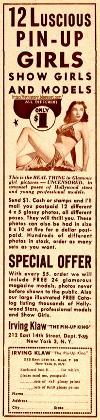 Irving Klaw ad
