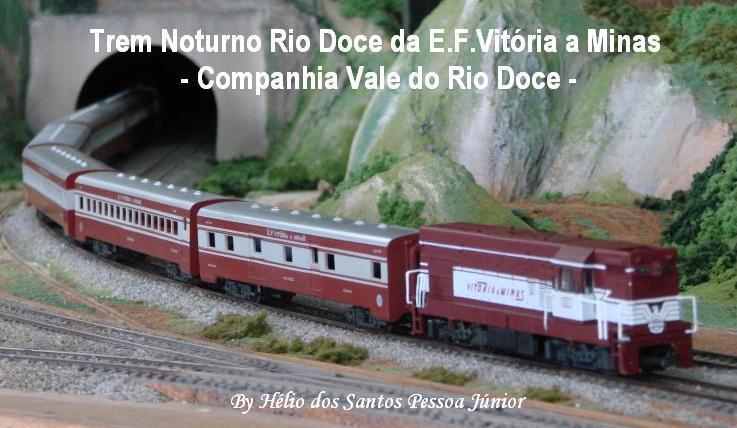 Trem Noturno Rio Doce da Estrada de Ferro Vitória a Minas - Companhia Vale do Rio Doce