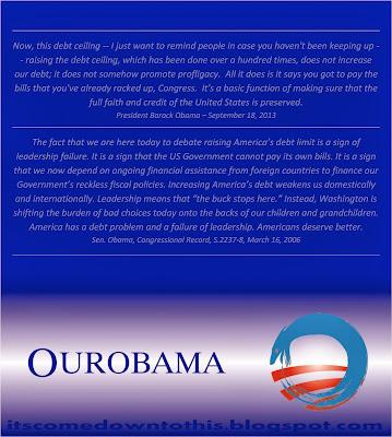 Obama logo debt crisis ceiling America bankrupt