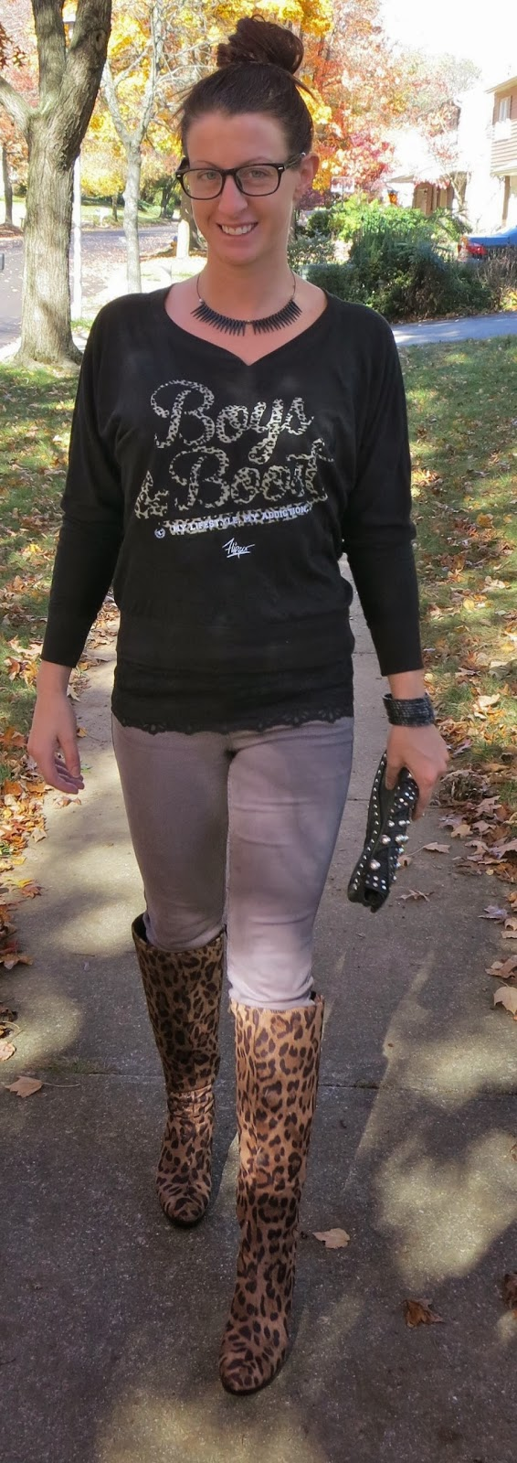 Leopard Boots Outfit