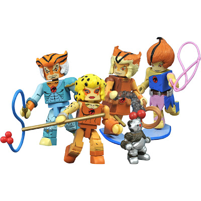 Thundercats Minimates Classic Series 3 Box Set - Tygra, Cheetara, Wilykat, Wilykit and Robear Berbil Bill