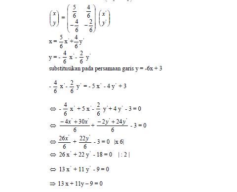 Materi Matematika Kelas Xi Semester 2 Bab V Transformasi