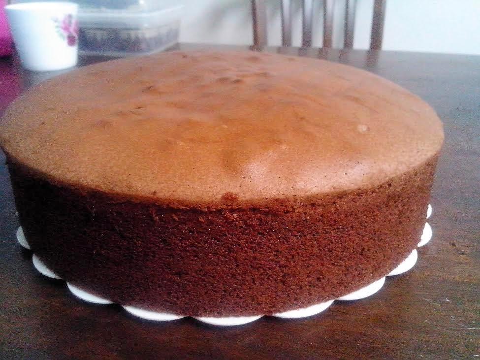Kek Span Coklat