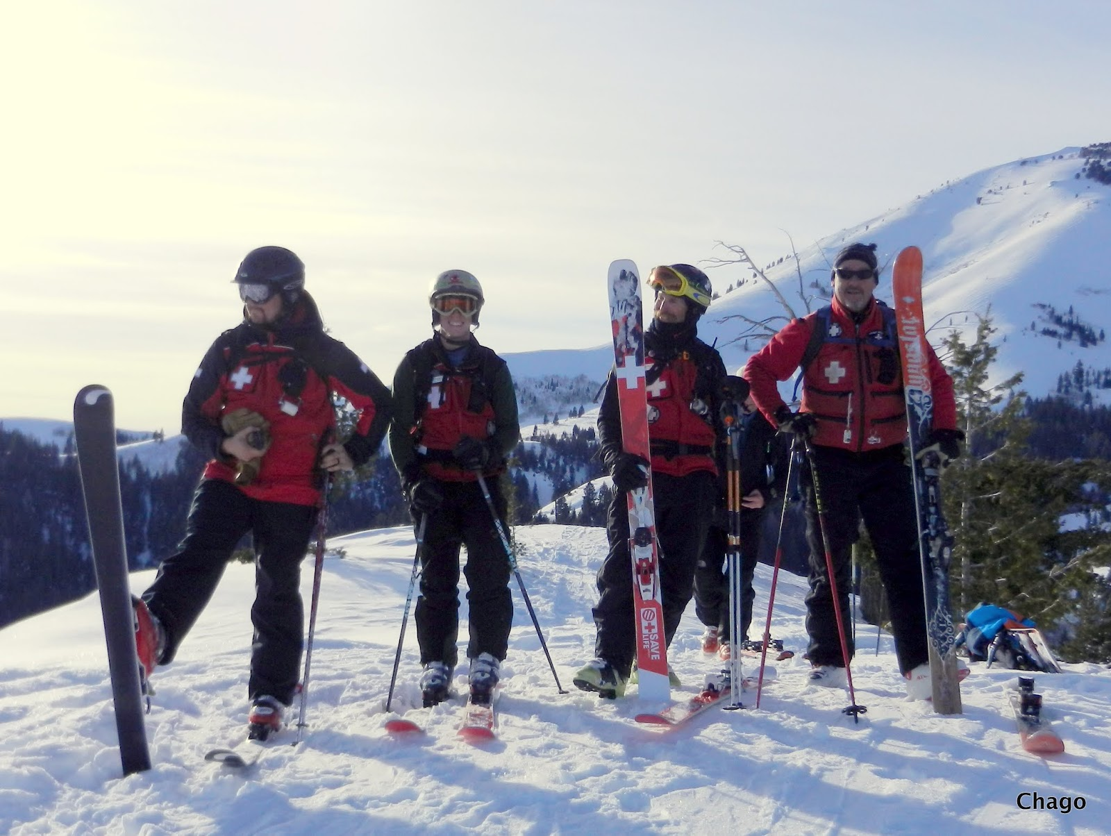 mores creek summit backcountry skiing: peak 1 - soldier mountains