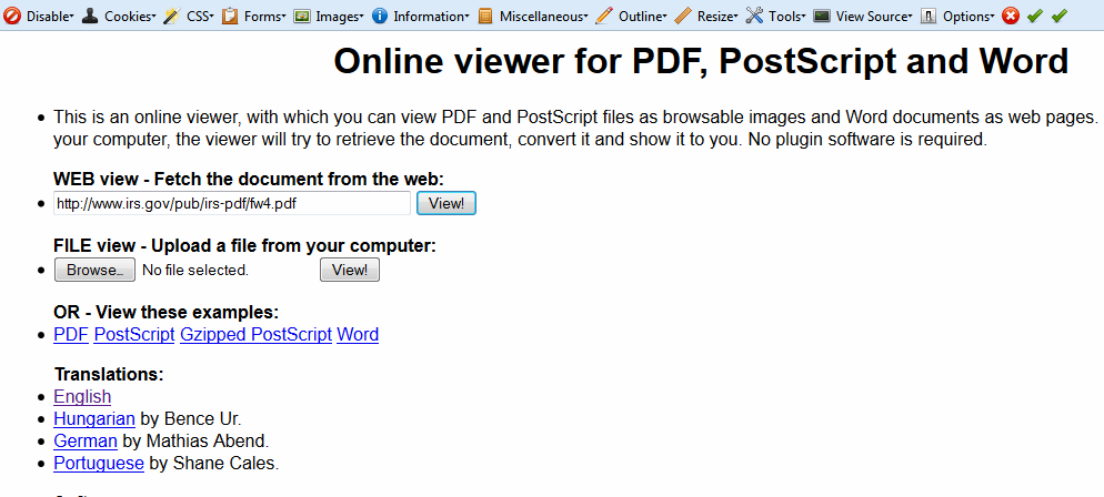 Online Viewer for Pdf