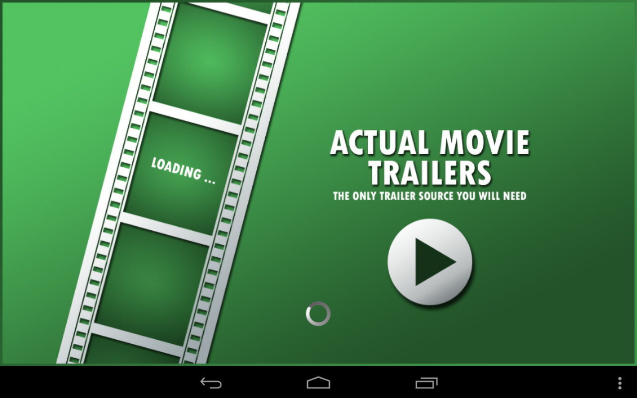 Actual Movie Trailers: Launch screen