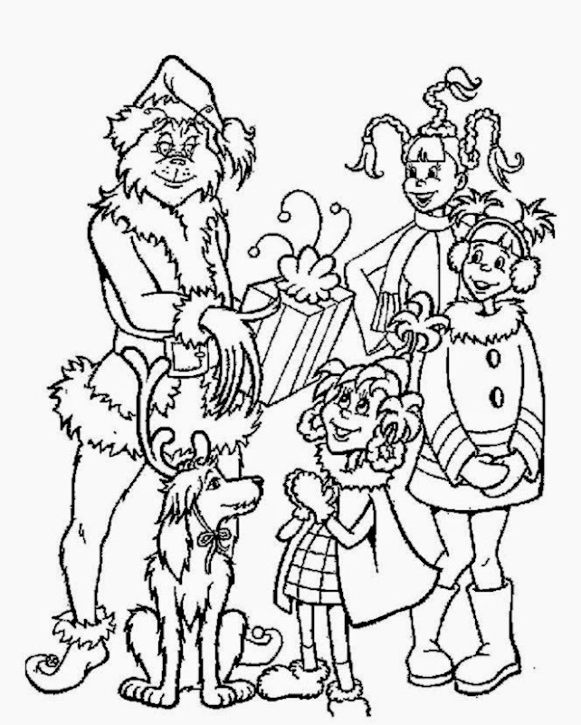 How the grinch stole christmas coloring pages grinch gives out