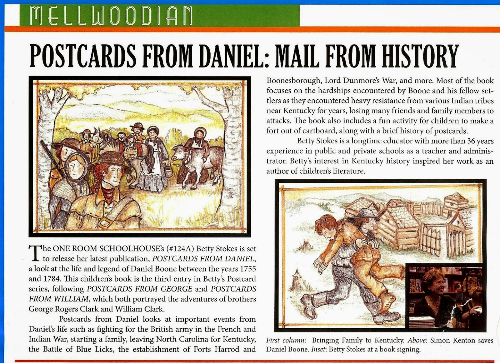"""Postcards from Daniel"" . . . . promoted in Mellwood Art Centers monthly publication."