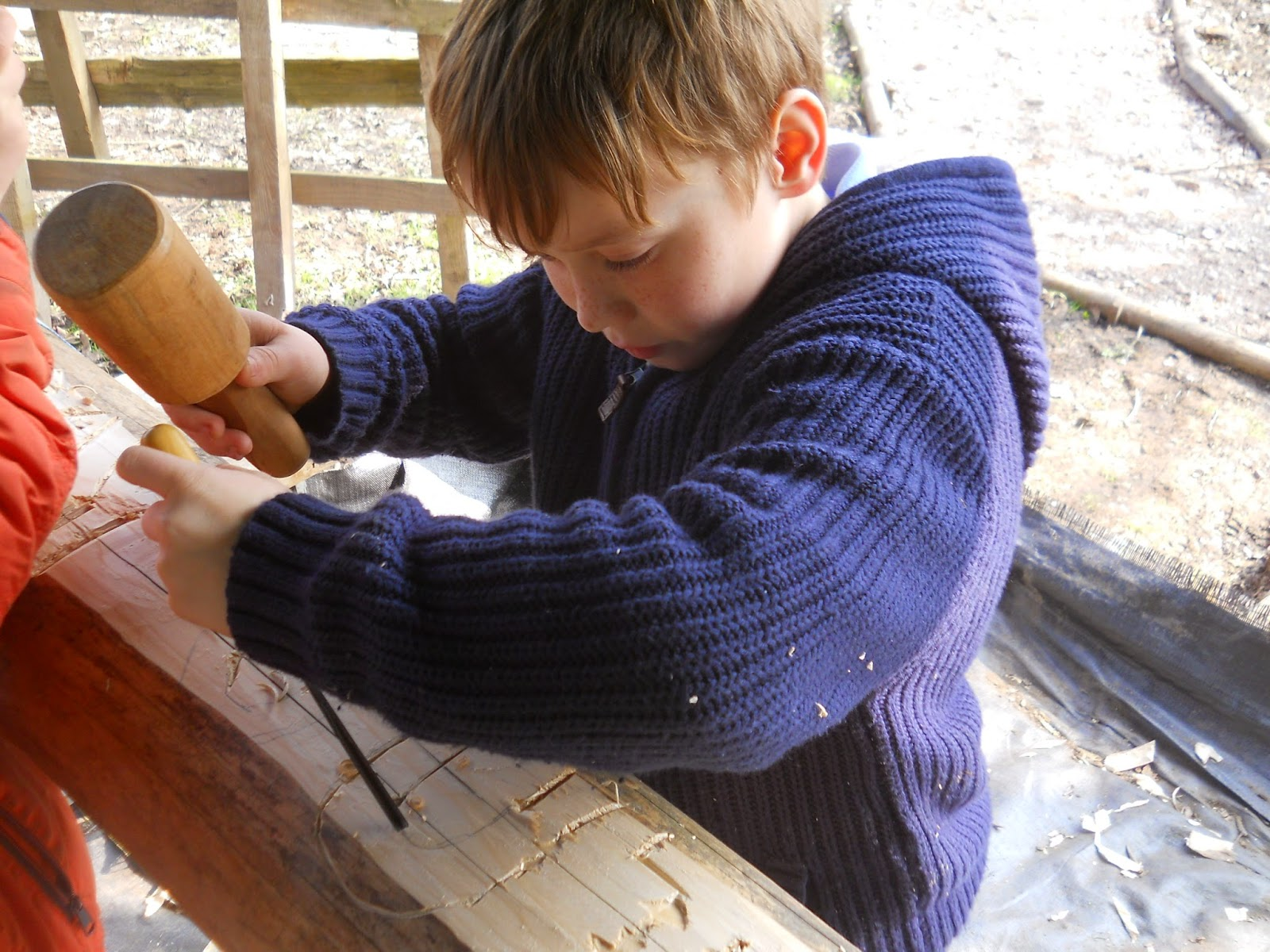 child woodcarving