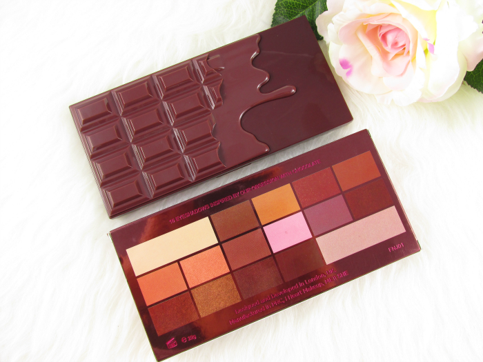 Review / Swatches: I Heart Makeup - I Heart Chocolate Eyeshadow Palette - 22g - 9,99 €