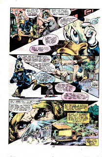 Howard the Duck v1 #2 marvel 1970s bronze age comic book page art by Frank Brunner
