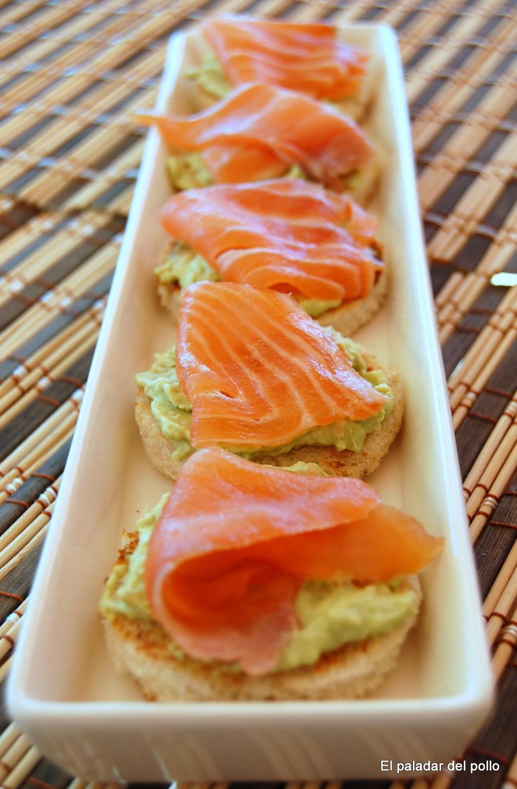 El paladar del pollo canap de pat de habas con salm n for Canape de salmon ahumado