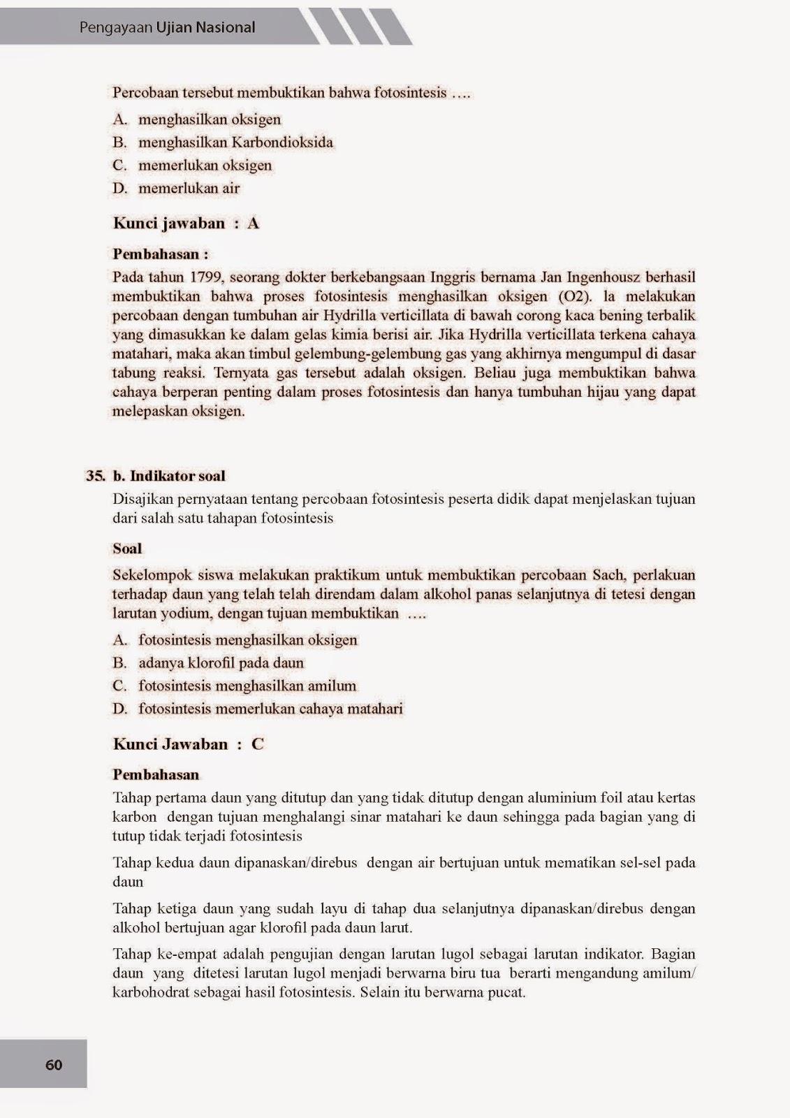 Biologi Gonzaga Prediksi Ujian Nasional Ipa Biologi Smp 2015 85