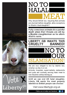 No to halal meat! No to our Islamisation.