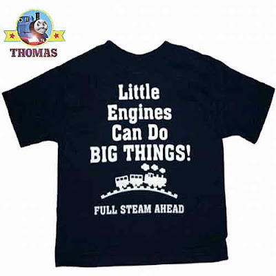 Luminous navy-blue Thomas tank clothing cotton tee-top is Thomas and friends merchandise licensed
