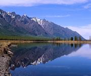 The freshwater sea Lake Baikal Russia