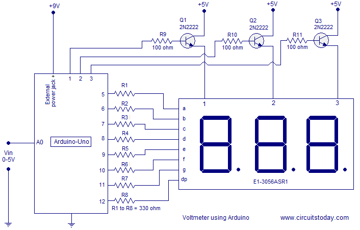Voltímetro digital com Arduino