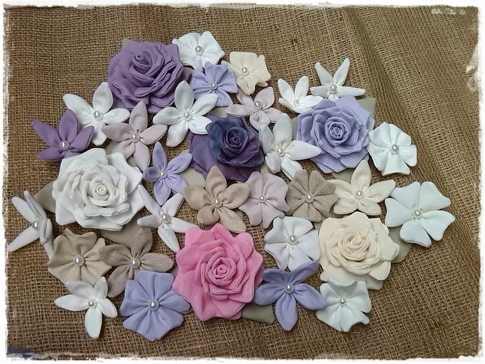 shabby choses rose e altri fiori di stoffa