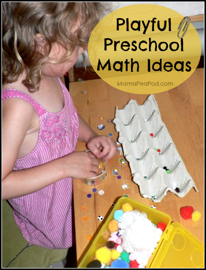 Playful preschool math ideas cover image