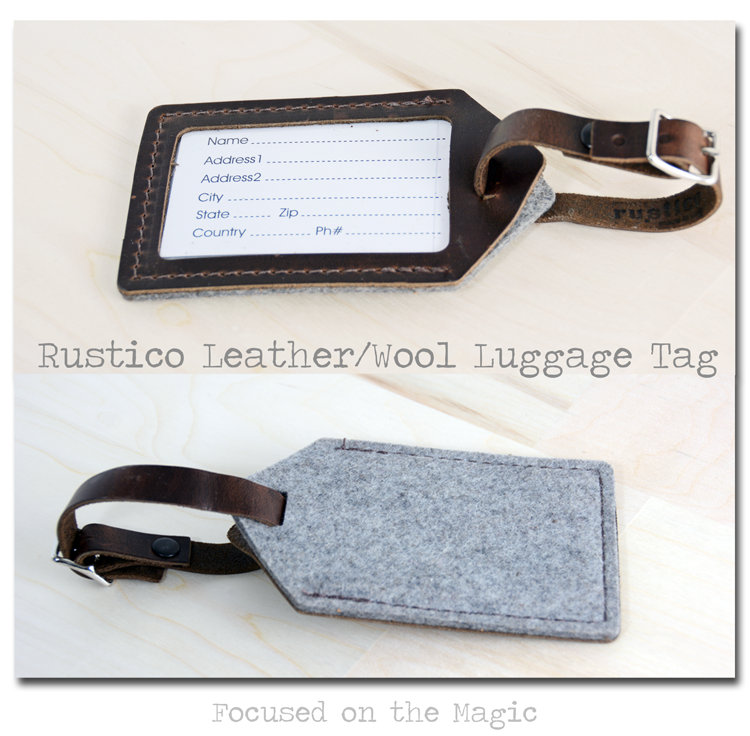 Wool Luggage Tag Hand Sewn