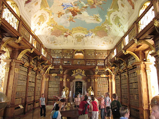 Central library at the Melk Abbey - this is one of three libraries