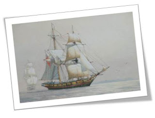Artist rendering of the HMS Pandora.