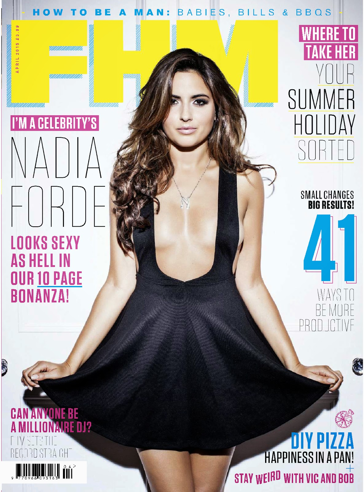 Model, Singer, Actress @ Nadia Forde - FHM UK, April 2015