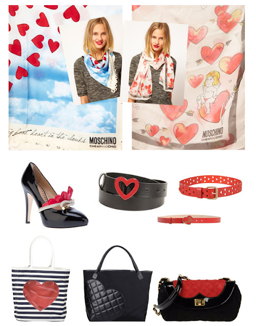 Moschino beautiful items for Valentine's