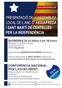 Presentació Aiguafreda i Sant Martí de Centelles per la Independència