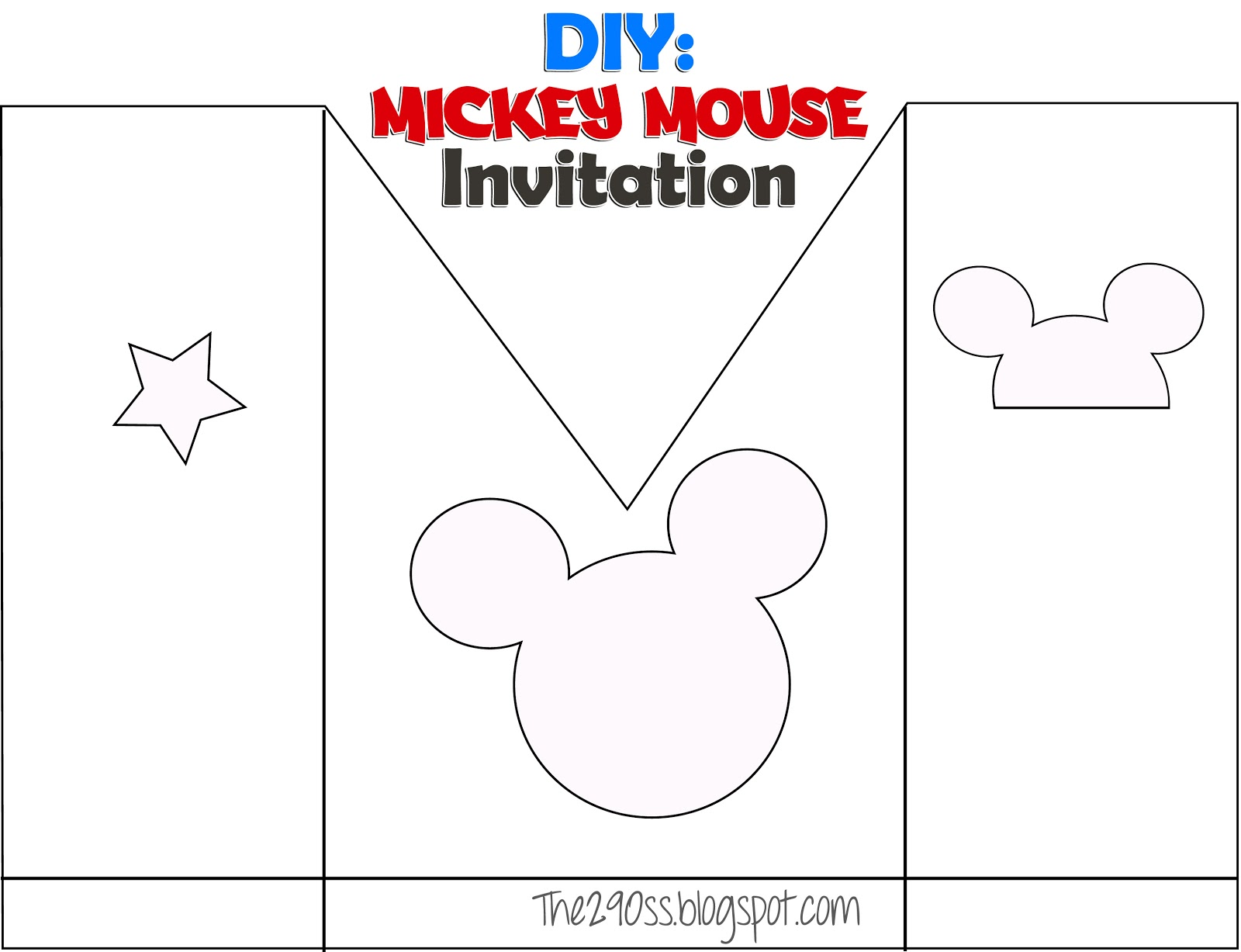 diy mickey mouse invitation template - Roho.4senses.co
