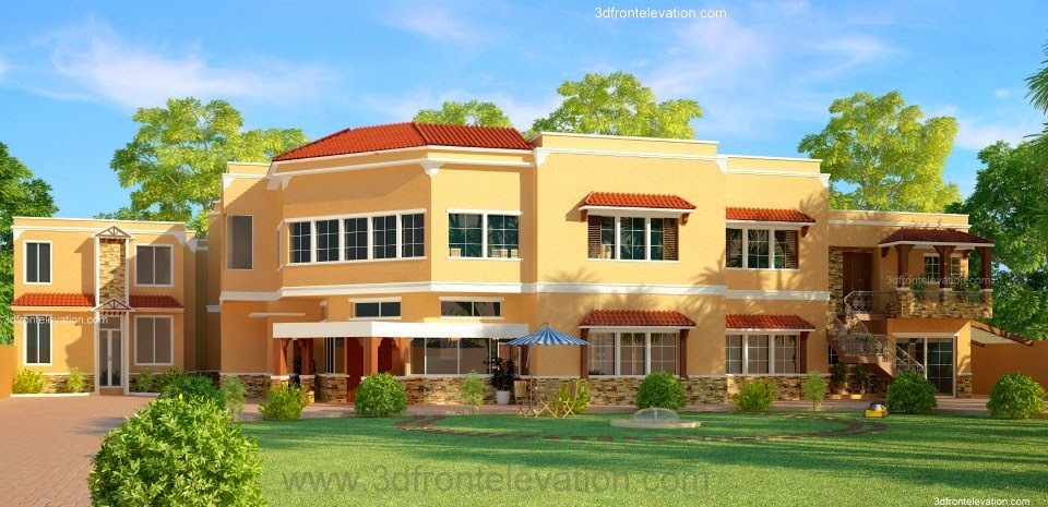 Front Elevation Of 4 Marla House : D front elevation lahore house from dimentia projects